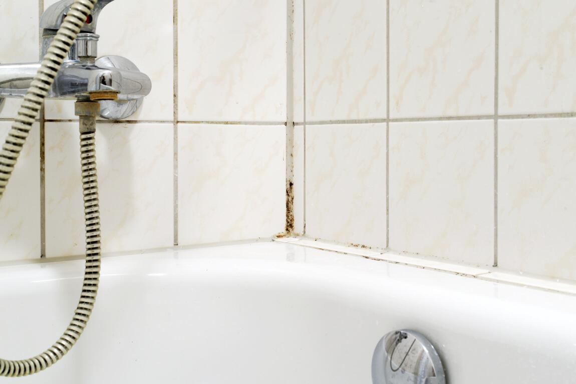 Schimmel in badkamer