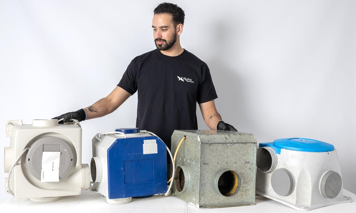 Voorbeelde oude ventilatieboxen