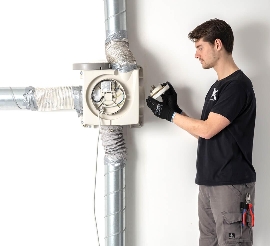 oude ventilatiebox onderhoud