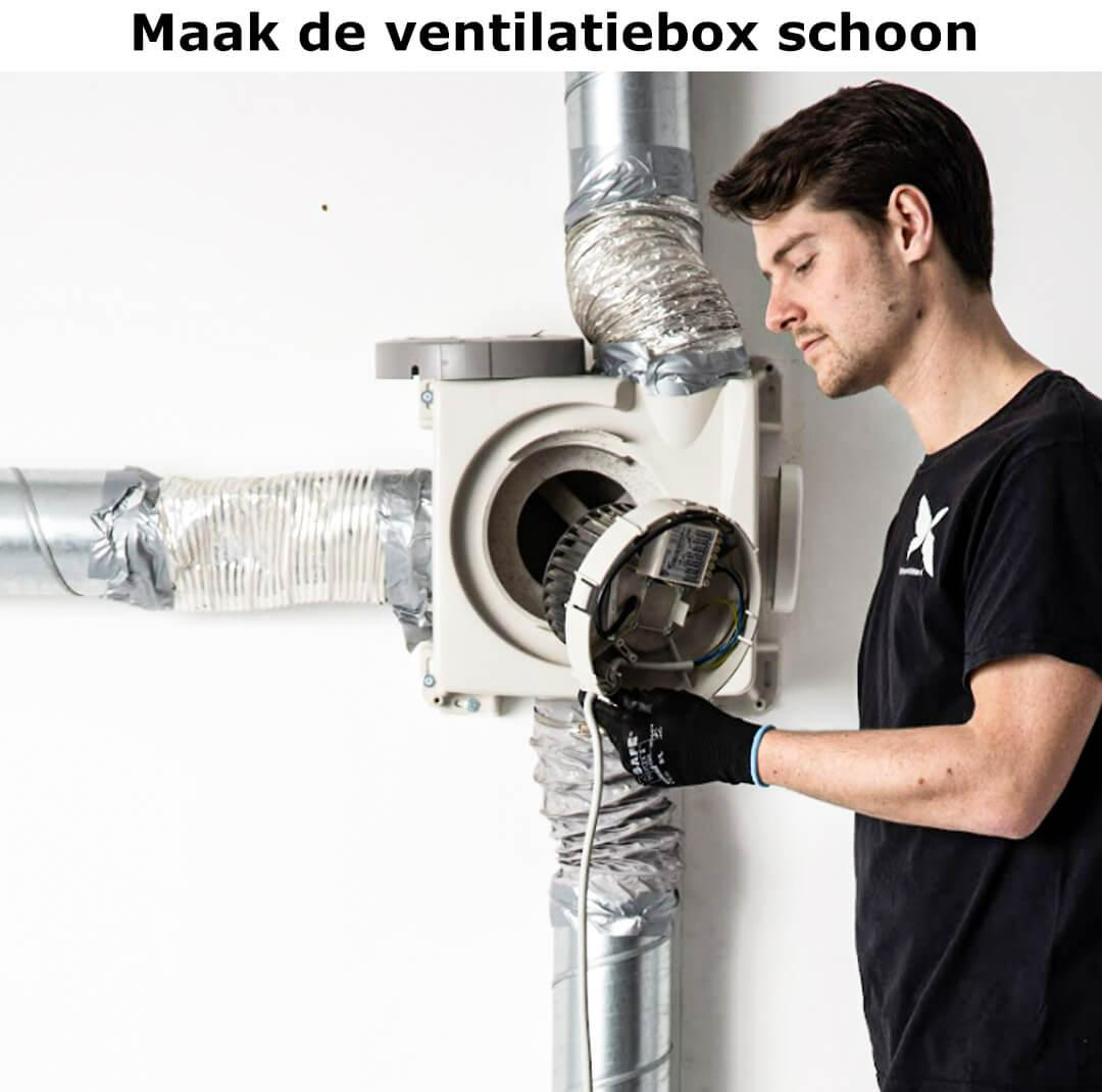 Maak de ventilatiebox schoon