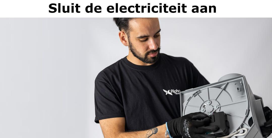 Sluit de electriciteit aan