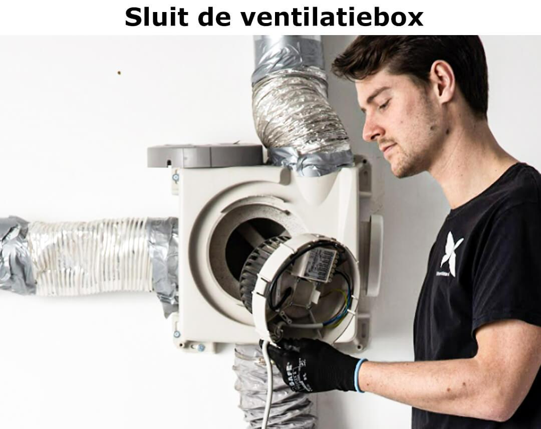 sluit de ventilatiebox (1)