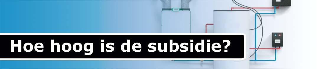 Hoogte subsidie ventilatiewarmtepomp