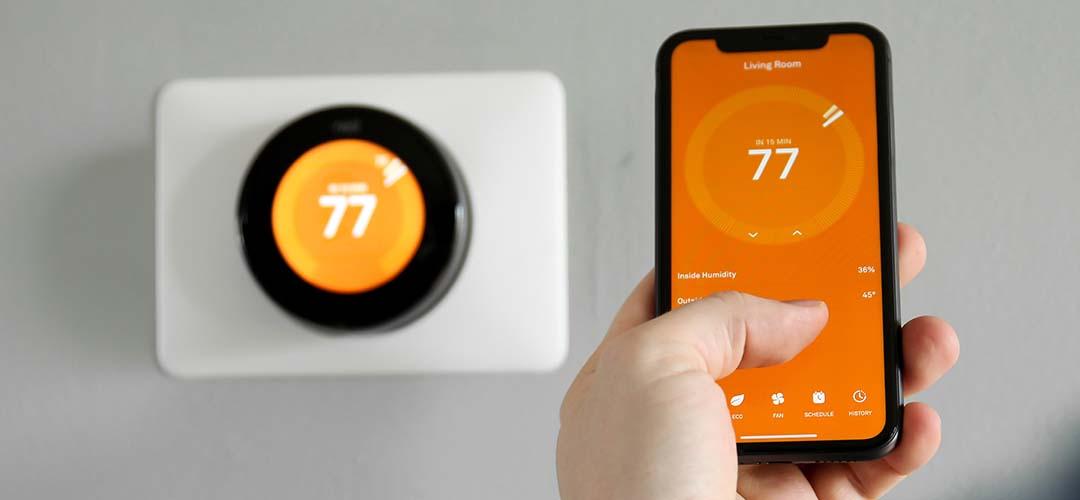 Slimme thermostaat met app